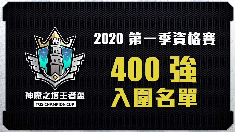 400強入圍名單