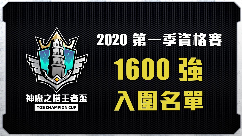 1600強入圍名單